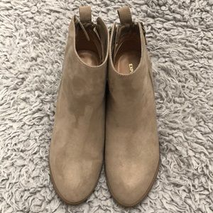 Nude booties size 8